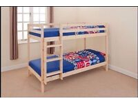 Alex Natural Varnished fantastic brand new bed still packed made of solid wood
