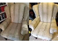 Pair of Queen Anne Style Armchairs - Needing TLC
