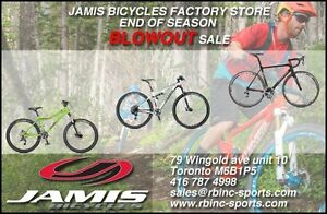 Jamis Bicycle Factory Blowout  sale.