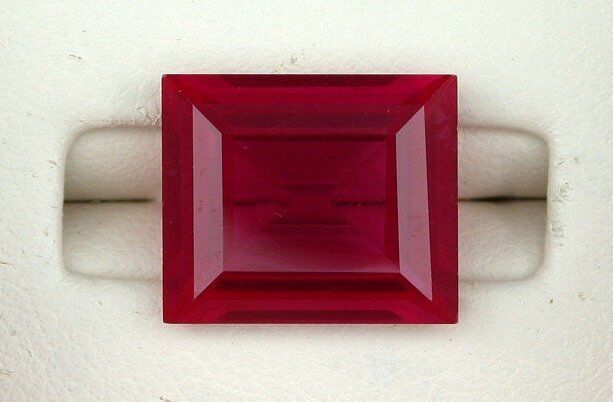 ONE 14x12 Baguette Rectangle Synthetic Ruby Corundum Gem Stone Gemstone EBS5996