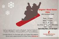 Kingston Community Blood Donor Clinic - Reopens Thursdays