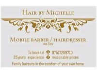 Mobile barber / Hairdresser 07517269710