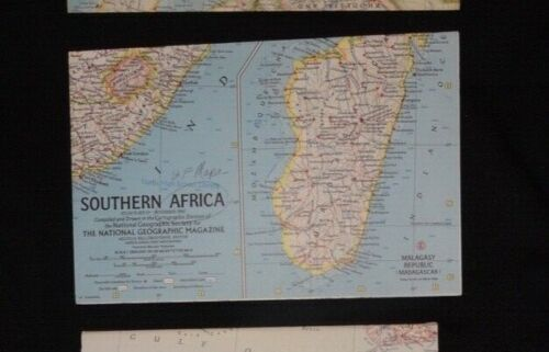 Vtg National Geographic Magazine SOUTHERN AFRICA 1962 Map Society 19x25