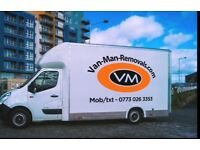 Van man removals Edinburgh. Same day. Short notice. Single items. Disposals man with a van .