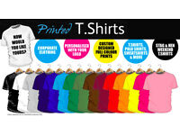 DTG T SHIRT PRINTING, CUSTOMISED PRINTING, EMBROIDERY (3D), WORKWEAR , GIFTS