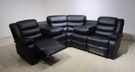 New Valentino Corner Sofa With Cupholder (Black&Brown)