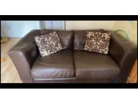 2 No's Two Seater Leather Sofa