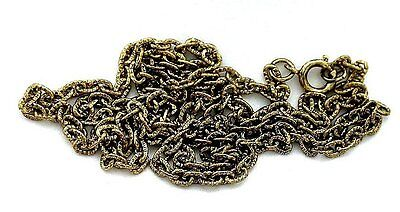 TEN 23 INCH ANTIQUE FINISH GOLDPLATED ROPE CHAIN WHOLESALE CLOSEOUT BELOW COST