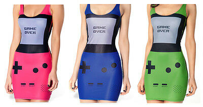KLEID DAMEN GAMEBOY GAME BOY WOMAN KLEID COSPLAY KOSTÜM SEXY KARNEVAL - Game Boy Kostüm