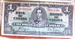 CAN, BANK NOTE 1937 FEATURE A PORTRAIT OF KING GEORGE VI