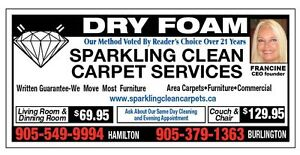 SPARKLING CLEAN CARPET CEANING, FURNITURE CLEANING ST CATHARINES