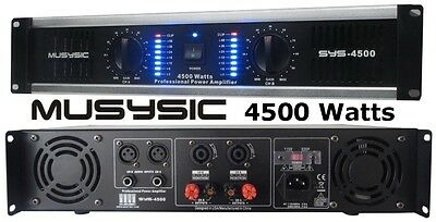 2 Channel 4500 Watts Professional Power Amplifier AMP DJ Stereo MUSYSIC SYS-4500
