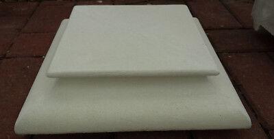 Fuß & Abdeckplatte für Pfeiler 37,5 cm Gartenfigur Tor &. Zaunspfeiler Steinguss
