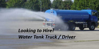 Water Tank Truck & Driver for Hire - Wanted