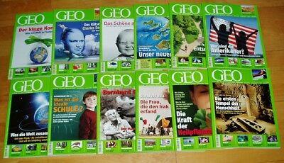 GEO Zeitschrift 2008 komplett Bild der Erde Jahrgang 12 Hefte Sammlung