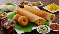 South indian foods including Dosa and idles