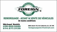 Foreign Car Parts Scrap and Towing - (438) 600-0480