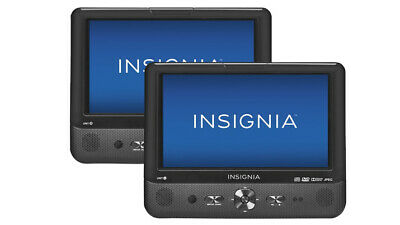 """Insignia NS-DS9PDVD15 9"""" Dual Screen Portable LCD DVD Player - Black"""