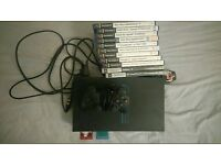 Playstation 2 with games and memory cards