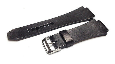 Genuine Leather Watch Strap / Band Replacement for Armani Exchange AX1008 AX1010 (Watchband Armani Exchange)