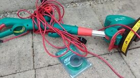 Bosch strimmer with spare spool and line