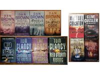 Books - by Michael Cordy, Clive Cussler, Michael Crichton, Tom Clancy and Dan Brown