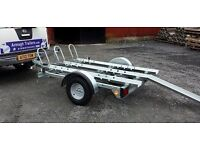MOTORBIKE MOVING TRAILER GALVANISED LIGHTS LOADING RAMP HARLEY HONDA SUZUKI QUAD ATV ATC BUGGY KART