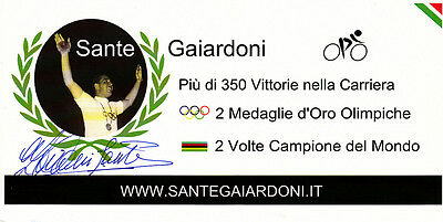 Sante Gaiardoni (ITA) 1.OS Rom 1960 Bahnrad original signiert/signed !!!