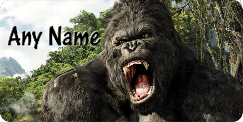 Gorilla King Kong Tag Any Name Personalized Novelty Car Tag License Plate