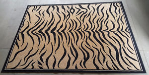 Tiger Print Area Rug - 8 by 10.5 feet