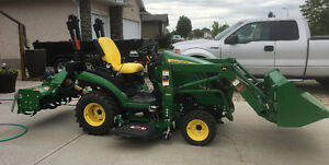 John Deere Utility Tractor with Attachments