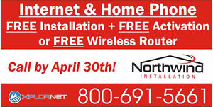 High Speed Internet - FREE INSTALLATION and FREE ACTIVATION