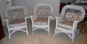 Antique wicker chairs, circa 1920