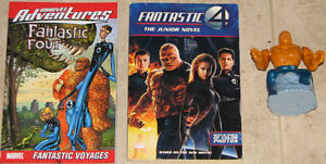 Qty 2 x Fantasic 4 Books & The Thing Action Toy Figure