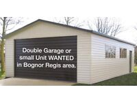 Double garage wanted