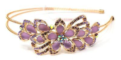 NEW Flower purple rhinestones Crystal High Quality Metal Flower -