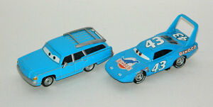 Disney Pixar Cars Mr And Mrs The King Diecast 1/55 Scale Mattel