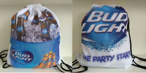 Beer Double Sided Pull String Backpack Bags