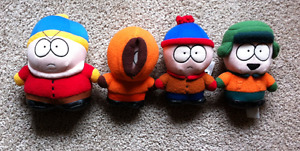 4 Vintage South Park Plushes - Comedy Central.Cartman/Kenny/Stan