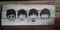 Hand Painted Beatles Silhouettes