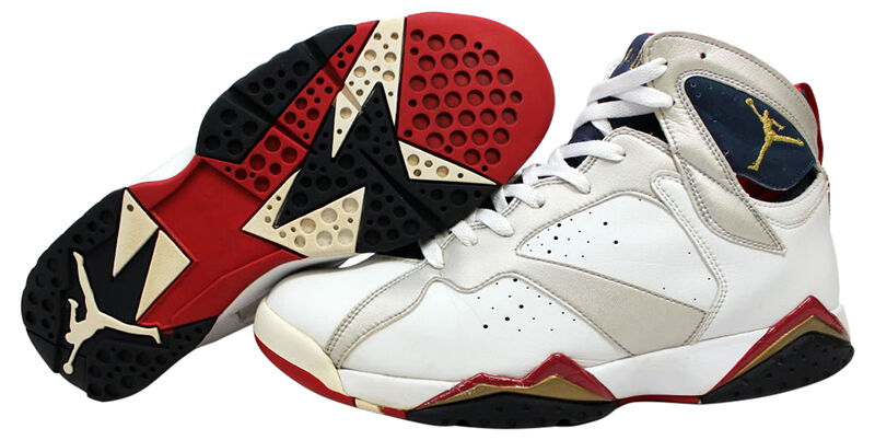 the most popular color scheme for the jordan 7 shoes is the raptor colors which are black with red and blue accents mj wore these shoes during the 1992 - Colorful Jordan Shoes