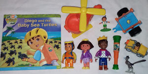 9 set of Qty 9 Dora Toys & Book 1 Set of Qty 9 Diego Toys & Book London Ontario image 1