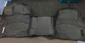 F150 weather tech front floor mat for bench seat asking 125.00