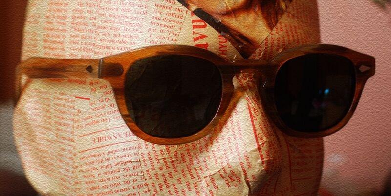 d49e45b63b ... Retro Depp polarized sunglasses mens artists Blonde glasses G15 gray green  lens ...