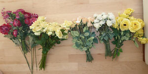 Beautiful fake flowers $ 10 - $ 15 per color or all $ 50 Kitchener / Waterloo Kitchener Area image 1