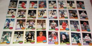 32 (1980-81)  Cards ex. to nm cond. opc Canada