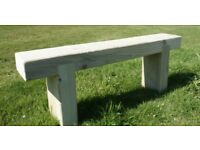 Railway Sleeper bench garden furniture sets summer furniture set LoughviewJoineryLTD