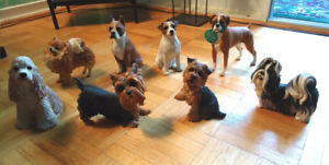 Sandicast & Country Artists Original 8 Dogs Figurine Collection!