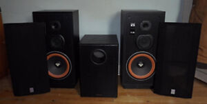 Cerwin-Vega VS-100 speakers and Acoustech Labs sub-woofer