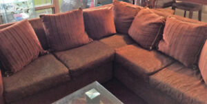 Moving Sale Sectional sofa,Dinning Table with 4 Chair,Crib+ More